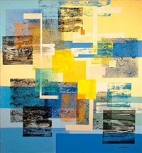 untitled (yellow and blue) by irene rice pereira