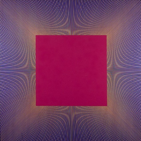 deep magenta square by richard anuszkiewicz