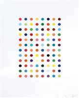 xylene cynol dye solution by damien hirst