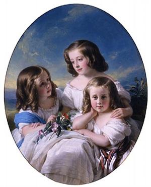 trois demoiselles de la famille de chateaubourg by hermann winterhalter