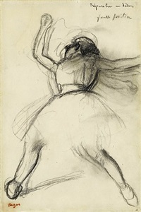 dancer (preparation en dedans) by edgar degas