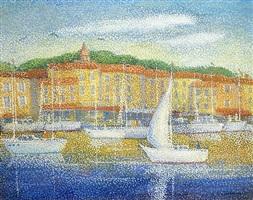 bateaux dans le port de hornfleur by lucien neuquelman