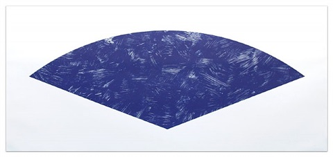 blue curve (state i) by ellsworth kelly