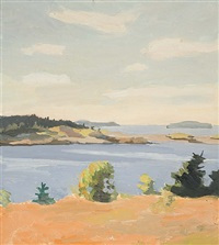 view across the barred island by fairfield porter