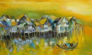peaceful yellow by dao hai phong