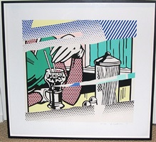 reflections on a soda fountain by roy lichtenstein