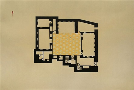 house in kathemiya drawing by hayv kahraman