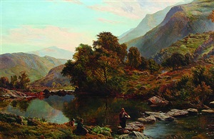 near betwys-y-coed, north wales by sidney richard percy