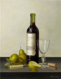 chateau haut brion with pears by roy hodrien