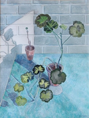 geraniums by edward bawden