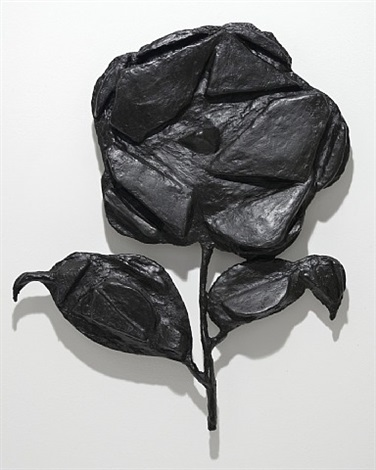 untitled (camelia 2 leaves) by donald baechler