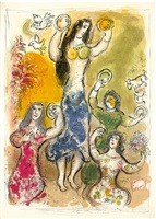 the story of the exodus (complete set) by marc chagall