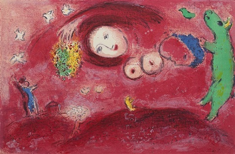 springtime on the meadow by marc chagall