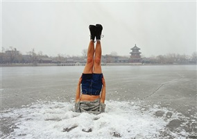 falls, li wei falls to the ice hole, beijing by li wei