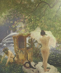 the bath by gaston la touche