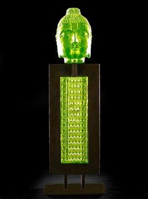 lime green abacua buddha by marlene rose