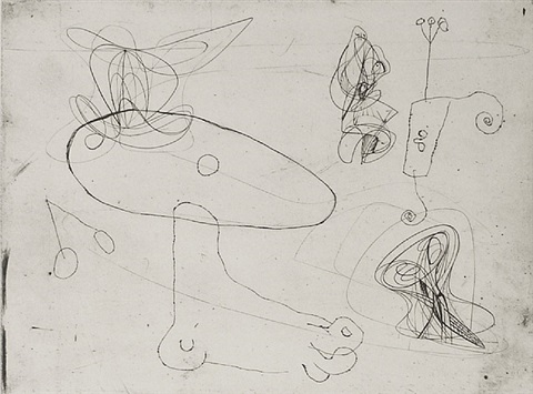 collaboration with joan miro (black/moorhead #183) by stanley william hayter