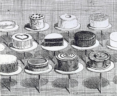 cake window by wayne thiebaud