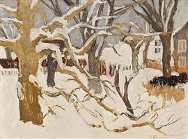 winter landscape (snow) by fairfield porter