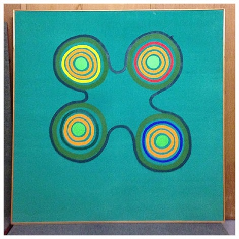 green painting by edward avedisian
