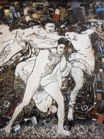 orestes pursued by the furies, after adolphe william bouguereau (pictures of junk) by vik muniz