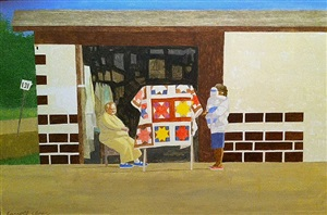the quilt lady by carroll cloar