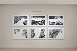 crowds with shape of reason missing suite by john baldessari