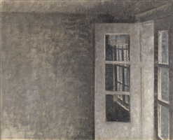 the balcony room at 'spurveskjul' by vilhelm hammershøi