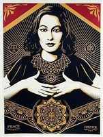 peace and justice large format by shepard fairey