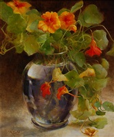 late summer nasturtiums by rosemary ladd