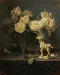 yellow roses and tang horse by grace mehan devito