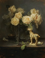 yellow roses and tang horse by grace mehan de vito