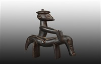 senufo equestrian figure by unknown