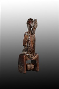 senufo heddle pulley by unknown
