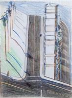 palm ridge (study) by wayne thiebaud