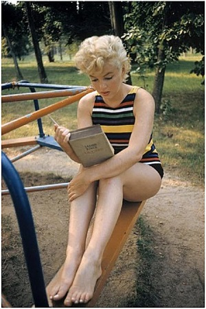 usa. new york. long island. us actress marilyn monroe. 1955. by eve arnold