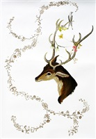 deer and bird by anne siems
