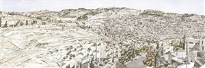 jerusalem, kidron valley by philip pearlstein