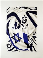 the israel flag at the speed of light by james rosenquist