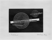 untitled (two circles with strips) by lászló moholy-nagy