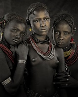 bodita, arboshash & nirjuda, dassanech tribe <br />omorate village, southern omo valley, ethiopia by jimmy nelson