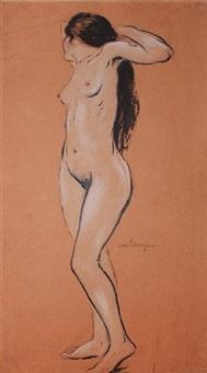 standing nude by kees van dongen