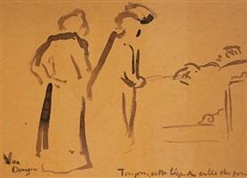 visite a la convalescente' by kees van dongen