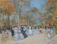 les champs elysees by jean françois raffaëlli