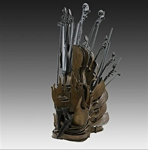 cascade de violons by arman