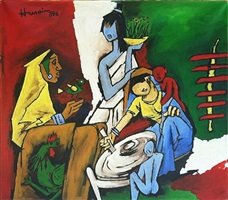 untitled by maqbool fida husain