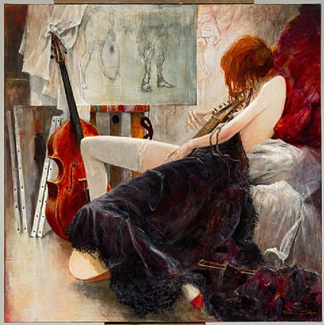 leda and the lute by marcel nino pajot
