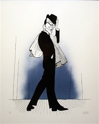 frank sinatra in pal joey by albert hirschfeld
