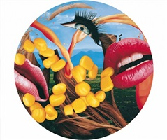 lips plate by jeff koons