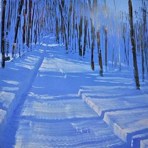 snow in sunlight (sold) by david allen dunlop